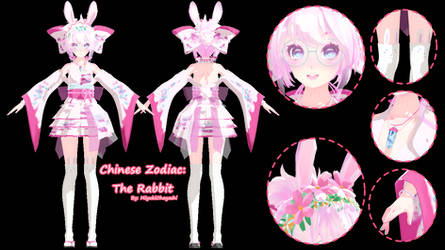[MMD DL] Tda Chinese Zodiac: The Rabbit by Smol-Hooman