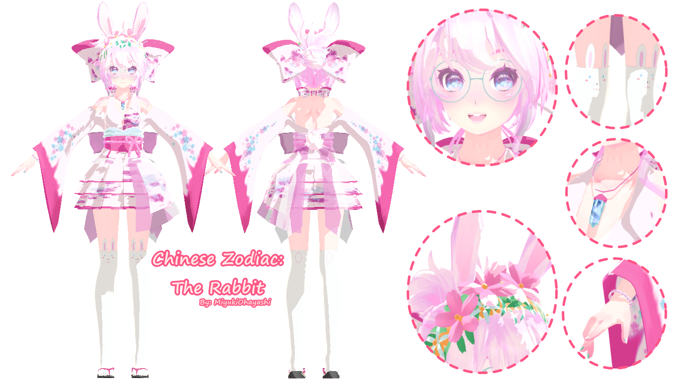 mmd dl tda chinese zodiac the rabbit by smol hooman on deviantart. Black Bedroom Furniture Sets. Home Design Ideas