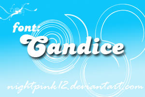 Candice font by NightPink12