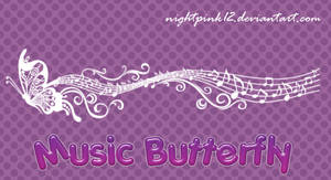 Music Butterfly Brushes by NightPink12