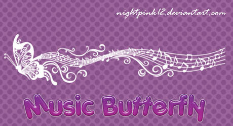 Music Butterfly Brushes