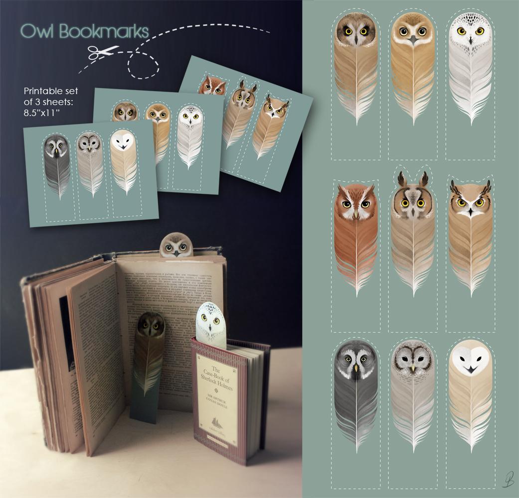 Owl Bookmarks by Sash-kash