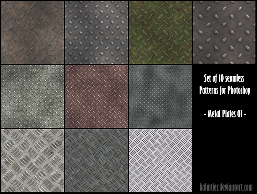 PS  Patterns - Metal plates 01 by halmtier
