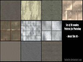 PS Pattern - Metal Tiles 01 by halmtier