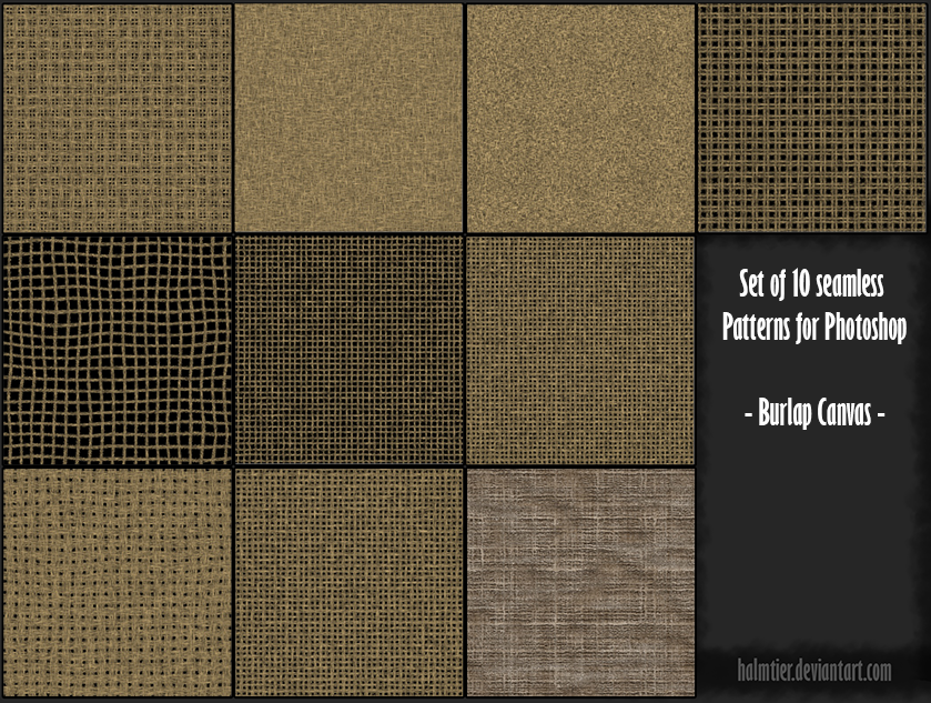 PS Pattern - Burlap Canvas by halmtier