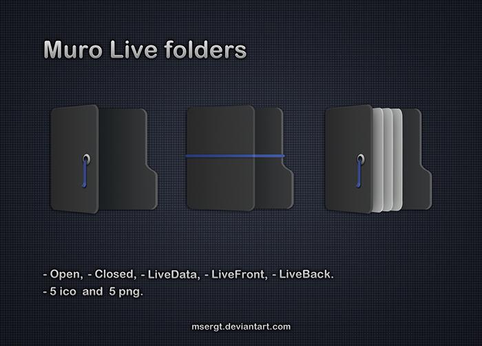 Muro Live folders by msergt