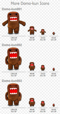 More Domo-kun Icons