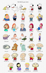 The Family Guy Icons by vannoy