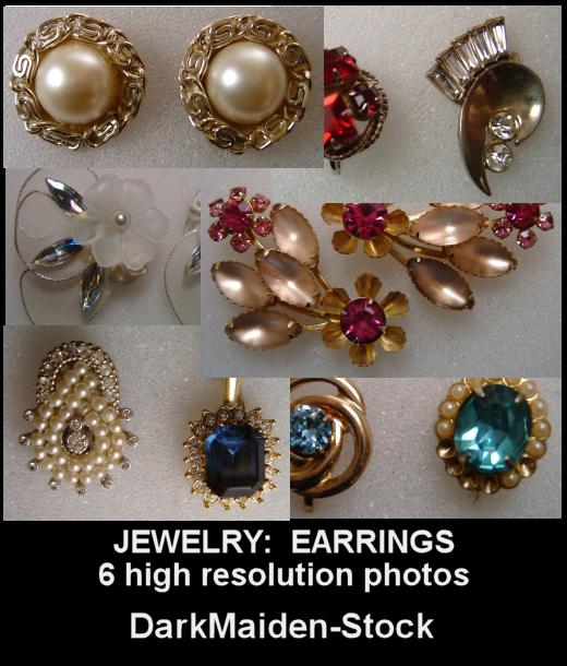 Jewelry: Earrings by DarkMaiden-Stock