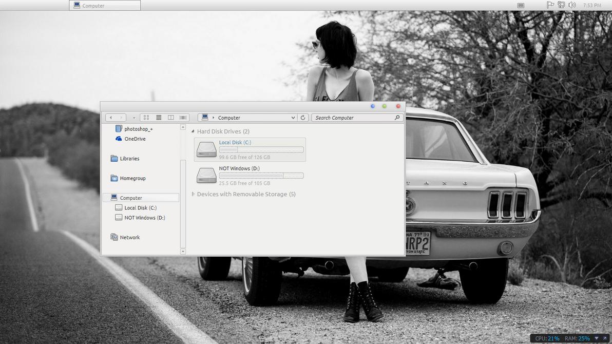 Mac theme for windows 8 by dIzzEE94