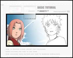Basic Manga Colouring Tutorial by Amaretti