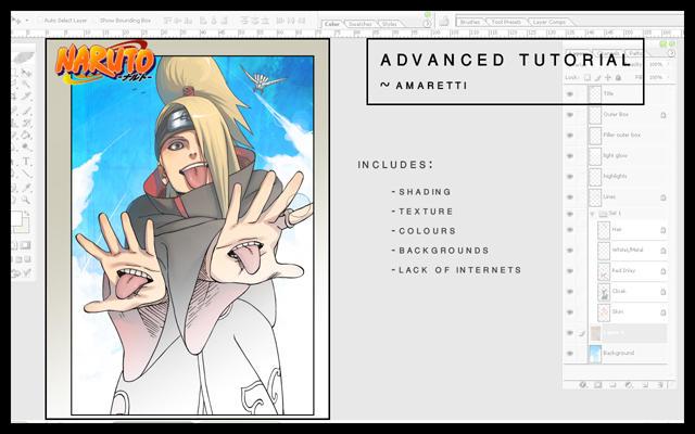 Advanced Colouring Tutorial by Amaretti
