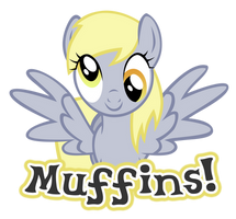Muffins Derpy Vector by MidnyteSketch