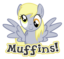 Muffins Derpy Vector by MidnyteSketch
