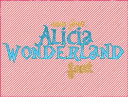 alicia wonderland font by adicctionforps