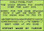 Curly - Pixel font