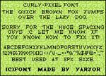 Curly - Pixel font