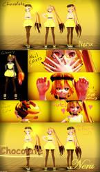 [MMD] ~Choco Series~ Lemon Chocolate Neru [DL] by MMDTeto13