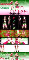 [MMD] ~CSummer Series~ Crazed Summer Teto by MMDTeto13