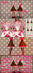 [MMD] ~Choco Series~ Raspberry Chocolate Teto [DL] by MMDTeto13