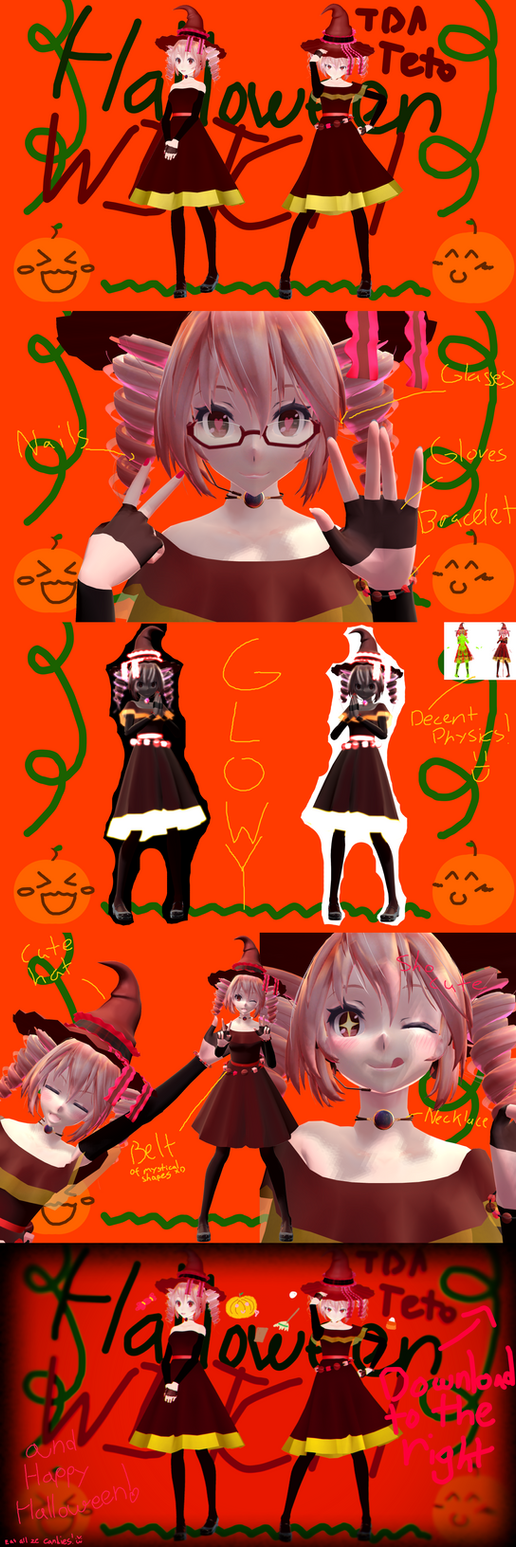 ~Halloween Special~ + 60+ WatchersGift~Witchy Teto by MMDTeto13
