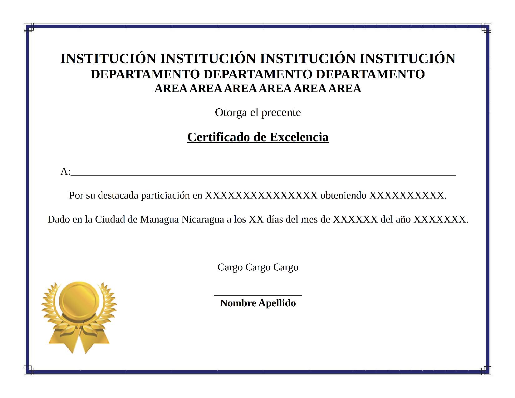 Certificado Excelencia By Williamjmorenor On Deviantart