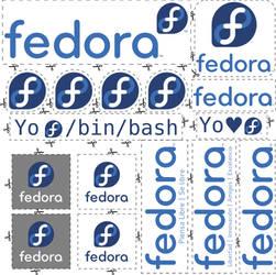 Fedora Stickers Pack by williamjmorenor