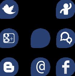 Social pack Fedora by williamjmorenor