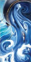 Aegir and his Nine Daughters by Relotixke
