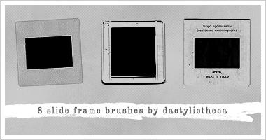 8 SLIDE FRAME BRUSHES by unsweet