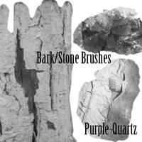 Bark-Stone Brushes by Purple-Quartz-Brush