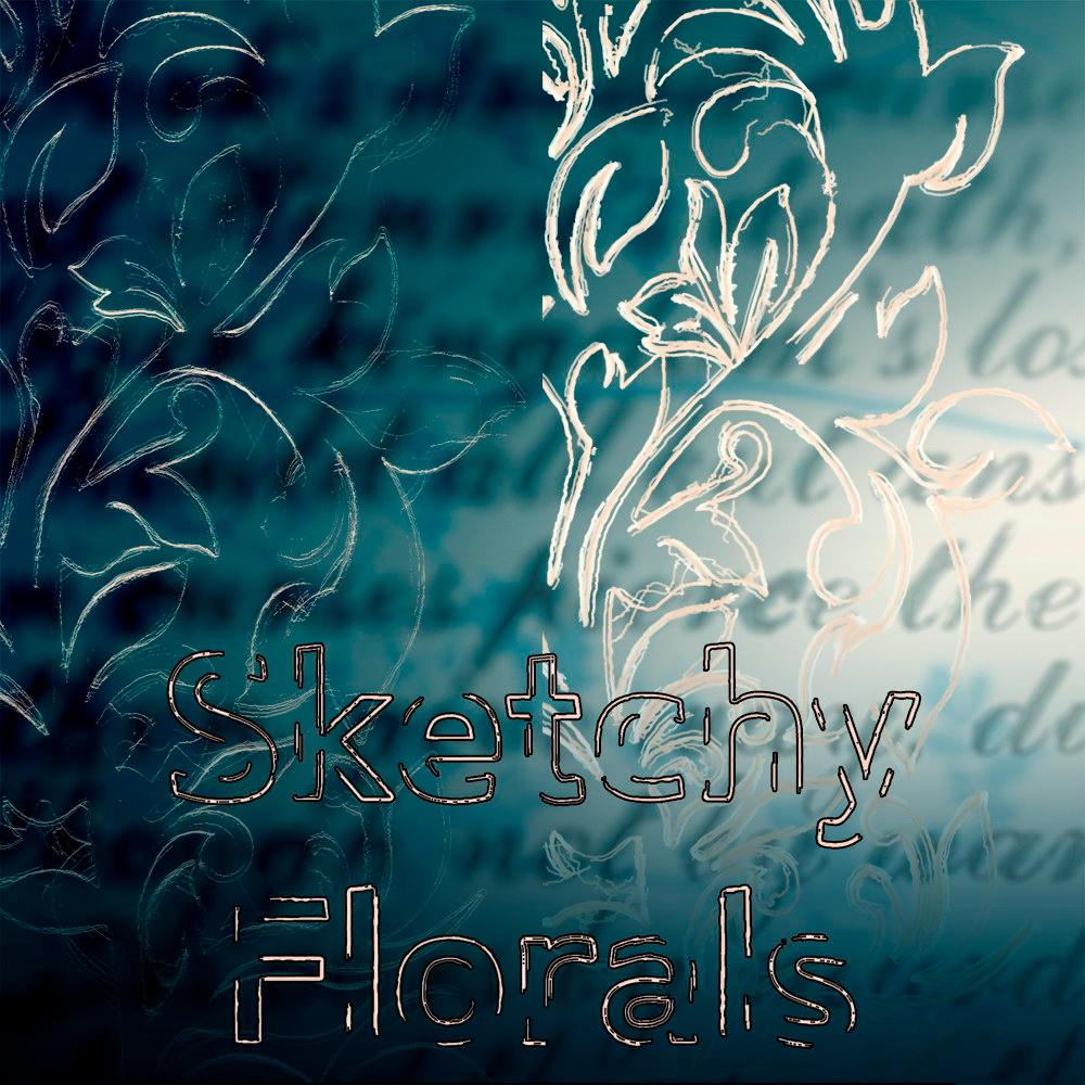 Sketchy Florals Set 01 by plasmaworx