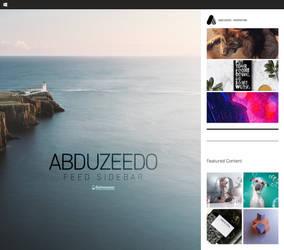 Abduzeedo Feed Sidebar
