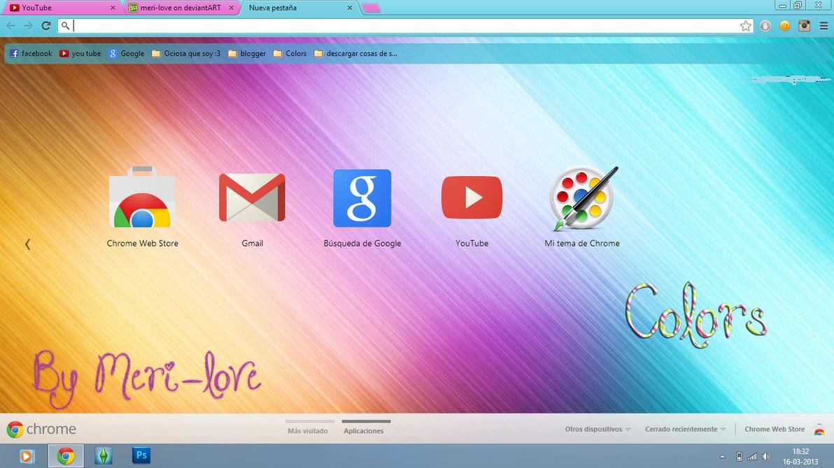 Theme Google Chrome Colors By Meri Love By Meri Love On DeviantART