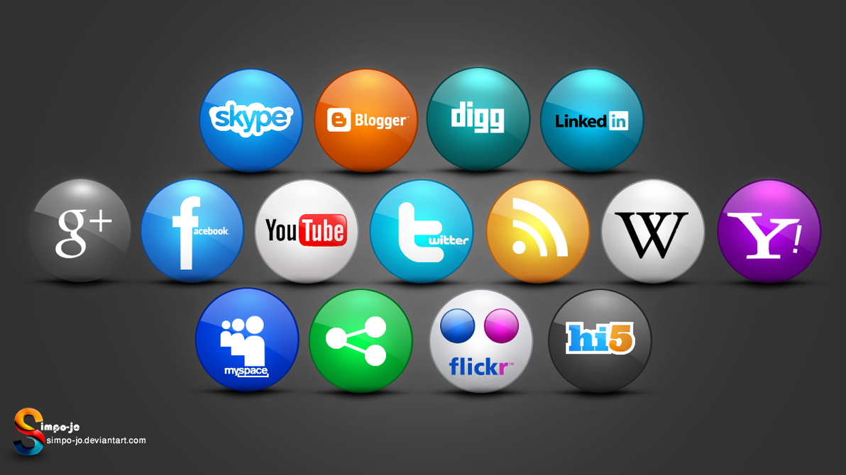 Social media icons by Almoutasemz on DeviantArt