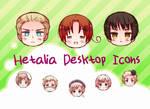 Hetalia Desktop Icons