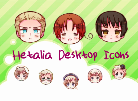 Hetalia Desktop Icons by HetaGarnet