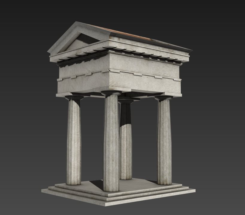 FREE 3D models. Small Temple by Casuss