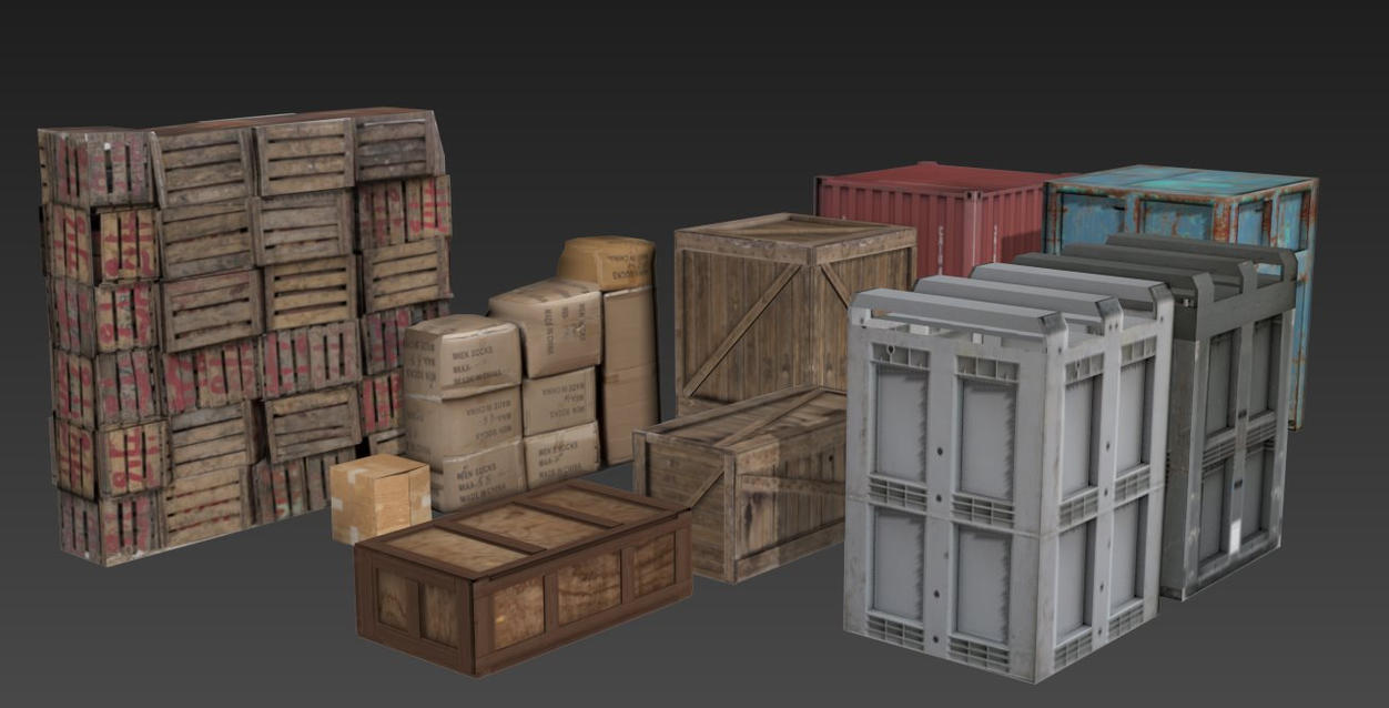 FREE 3D models. Small and big boxes. by Casuss