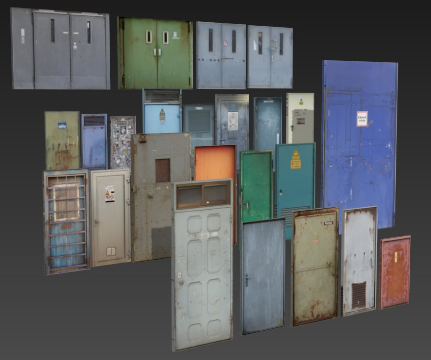 FREE 3D models. Small and big doors. by Casuss