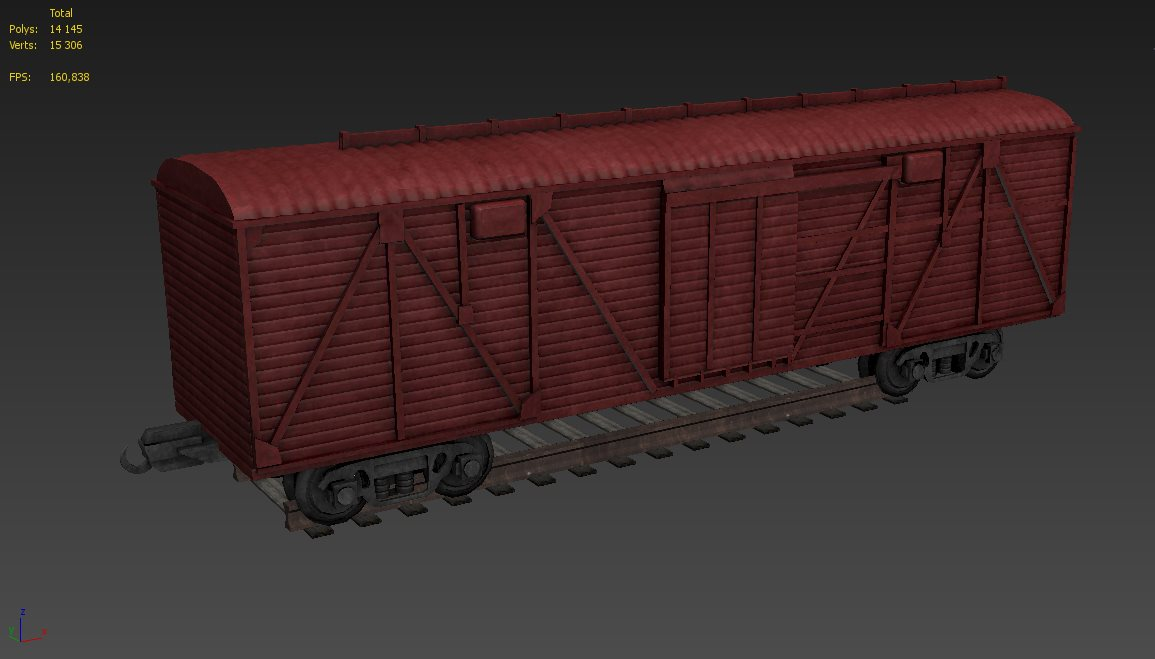 FREE 3D models. Wagon carriage by Casuss
