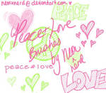 Peace + Love Brushes
