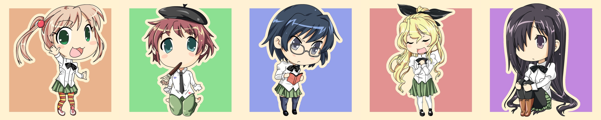 [Katawa Shoujo] Vector Chibi, Pastel Vr/ReRelease by PikKirby