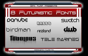 GT Presents: 8 Futuristic Font by DaBigBoss93