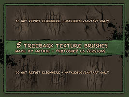 Tree Bark Brushes by nathies-stock