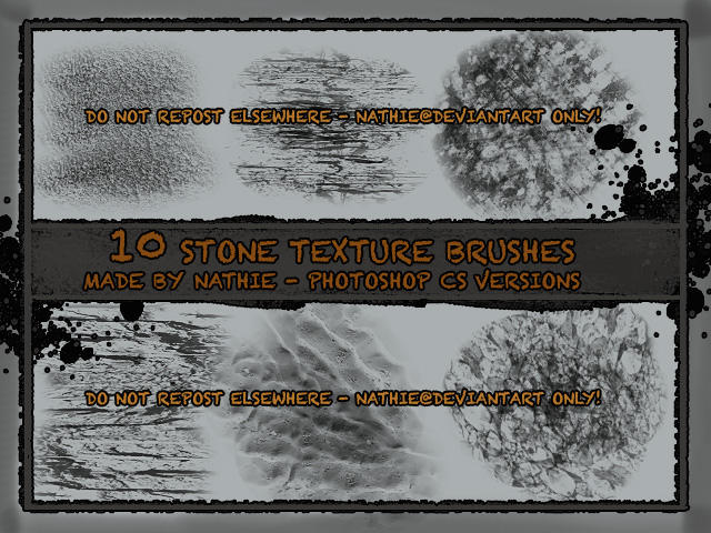 Stone Texture Brushes by nathies-stock