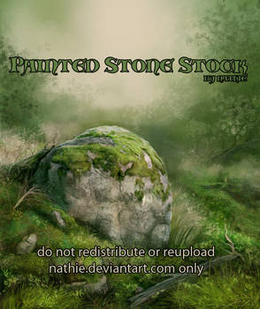 Painted Stone Background