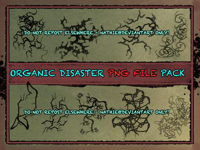 Organic Disaster PNG File Pack by nathies-stock