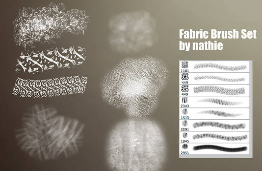 Fabric / Brocade Brushset
