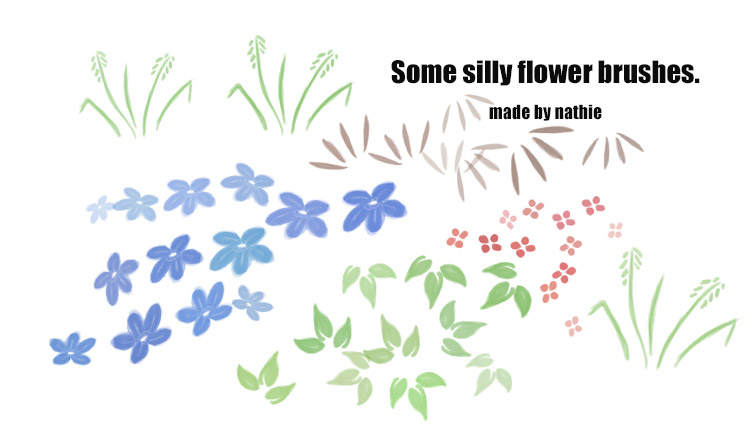 Silly Flowers by nathies-stock